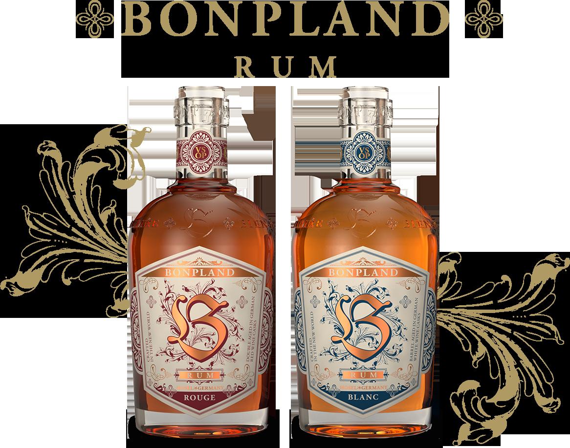 Bottles of Bonpland Rouge and Blanc